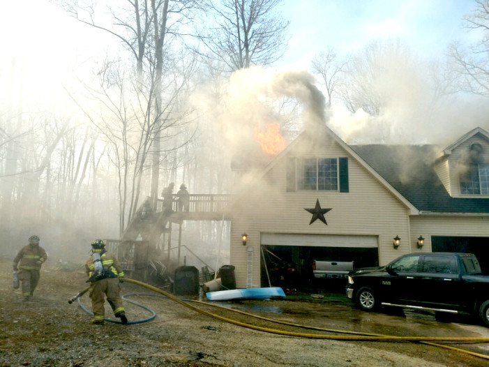 Bonfire possible cause in township blaze