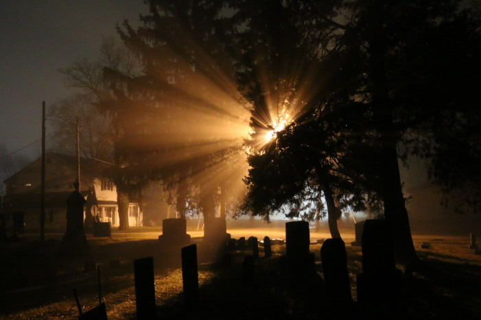 Goodrich in the fog