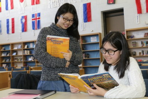 Honoka Kanno and Giang Le Tina at Brandon High School until this summer. Photo by Patrick McAbee.