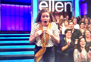 Ireland Sexton, a Brandon High School graduate and aspiring actress, made her national television screen debut, unrehearsed, on 'The Ellen DeGeneres Show.'