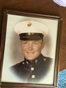 Filhart at Marine enlistment 1955.
