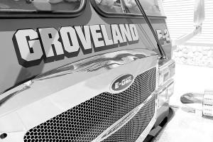 Groveland Township Fire Truck bw