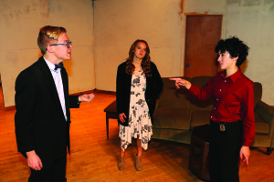 Benjamin Davis as Phillip Axelrod, Sarah Andrus as Glenda Wood and Kiara Church as Diana Palmer