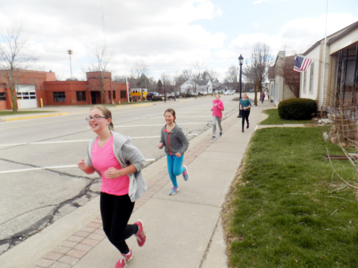 Kids Bookin' date for Library 5K