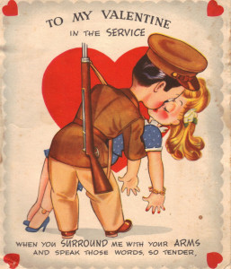 A 1944 Valentine Elaine received.