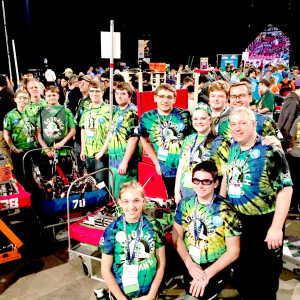 Members of Goodrich robotics at the FIRST World Championship last weekend in St. Louis, Mo