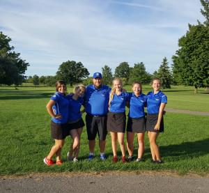 From left, Skyler Kochan, Savannah Wilton, Coach Jayson W. Rumball, Kalin MacQueen, Zoe Cooney and Layne Petrowski. Photo provided.