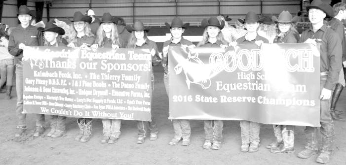 Goodrich Equestrian team third in states