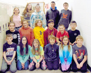 Bottom row from left, Jason Waring, Lauren Komeshak, Lexie Halstead, Declan Johnesee, Annabella Trovato and Ryan Howerton. Middle row, from left Sophia Consiglio, Payton Fletcher, Gavin Rochester, Caleb Thwing, Isaac Miller and David Montreuil. Top row from left, Emily Roper, Mary Katherine Komeshak, Grace Montreuil, Matt Ressler and Nathan Starr. Not pictured: Ella Miller, Gabbi Claxton, Lyndsay Claxton, Brooke Roberts and Paige Thwing. Photo by Shelby Stwart.