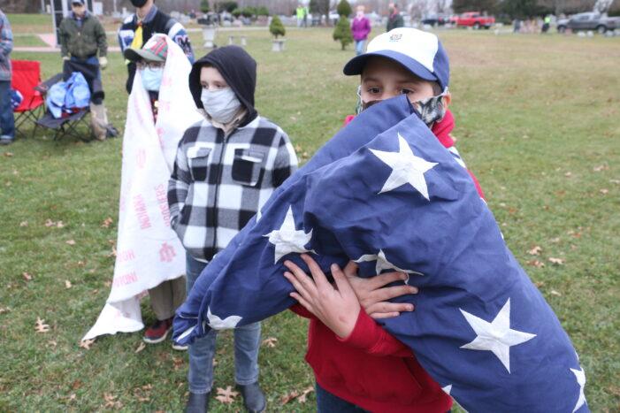 Honoring the flag