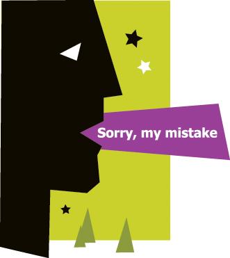 Apologizing for everything.